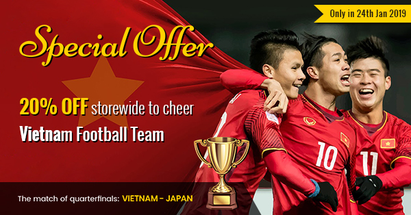 new arrival 149a2 7d7f6 AFC Asian Cup 2019] 20% OFF Storewide to Cheer Vietnam ...