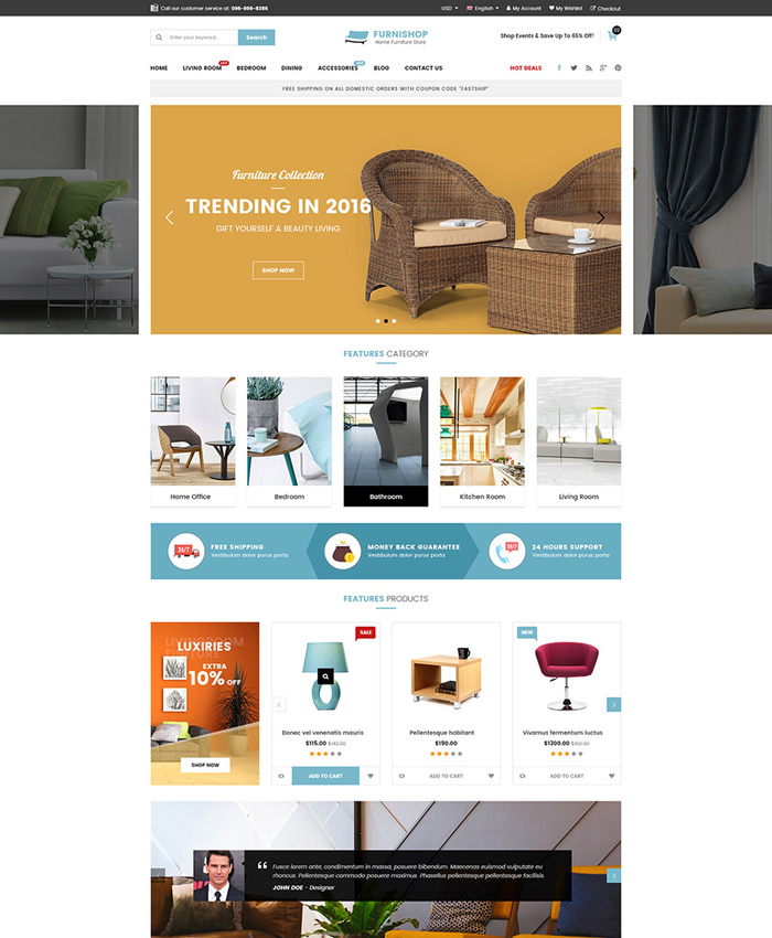 Best Furniture & Interior eCommerce OpenCart Themes for 2020