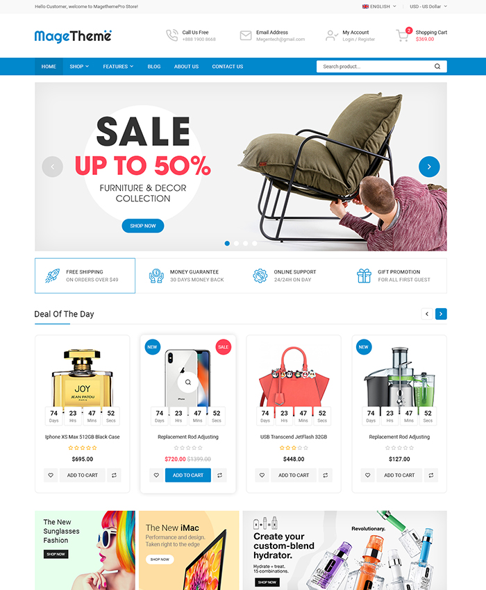 Best-selling Magento Themes 2020