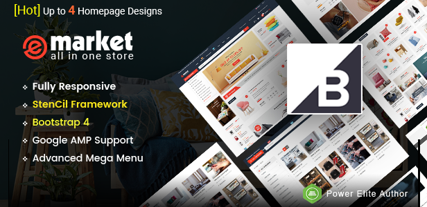 eMarket -Responsive Multipurpose StenCil BigCommerce Theme with Advanced Theme Option