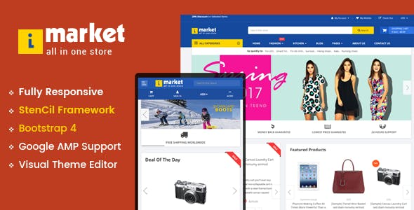 iMarket - Multipurpose Stencil BigCommerce Theme & Google AMP Ready