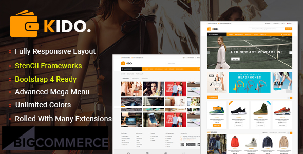 Kido - Multipurpose Stencil BigCommerce Theme & Google AMP Ready