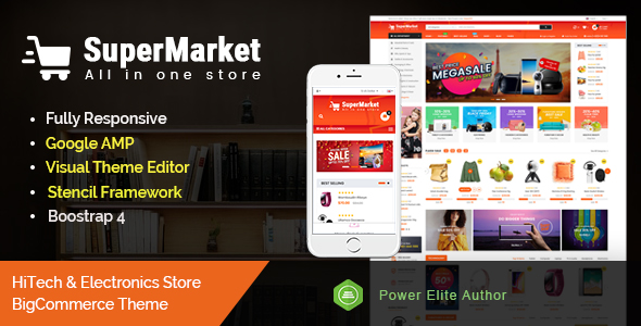 SuperMarket - Multipurpose Stencil BigCommerce Theme & Google AMP Ready
