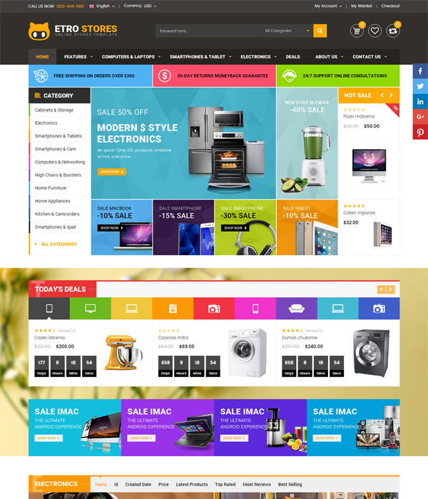 Best Magento Multi-Category Stores Themes - Maxshop