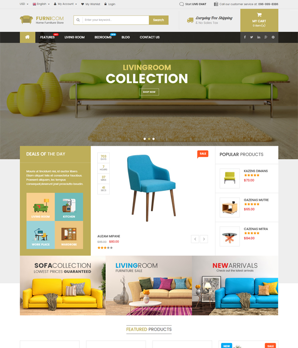 Best Magento Multi-Category Stores Themes - Orion