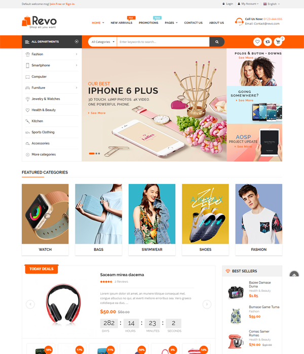 Best Magento Multi-Category Stores Themes - Arion