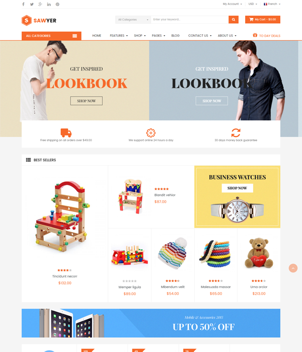 Best Magento Multi-Category Stores Themes - Flexshop