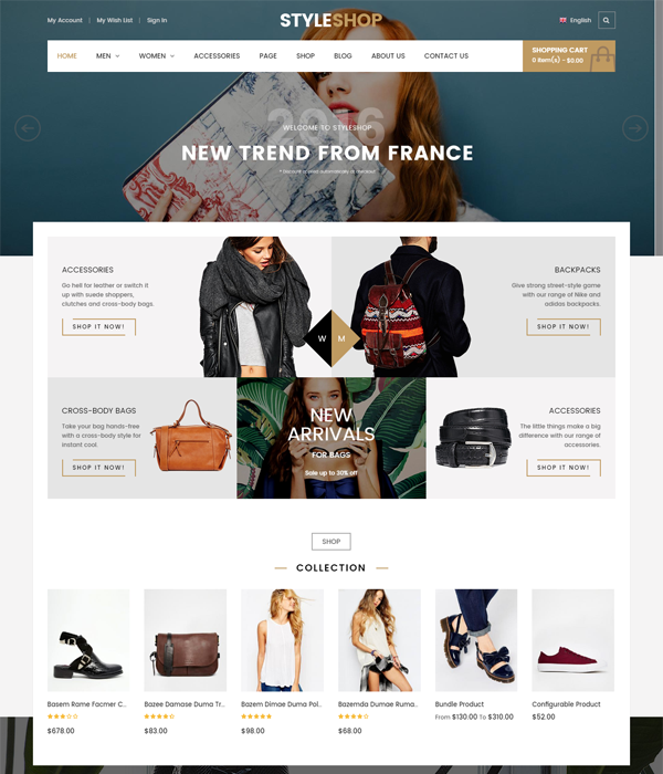 Best Magento Multi-Category Stores Themes - Muto