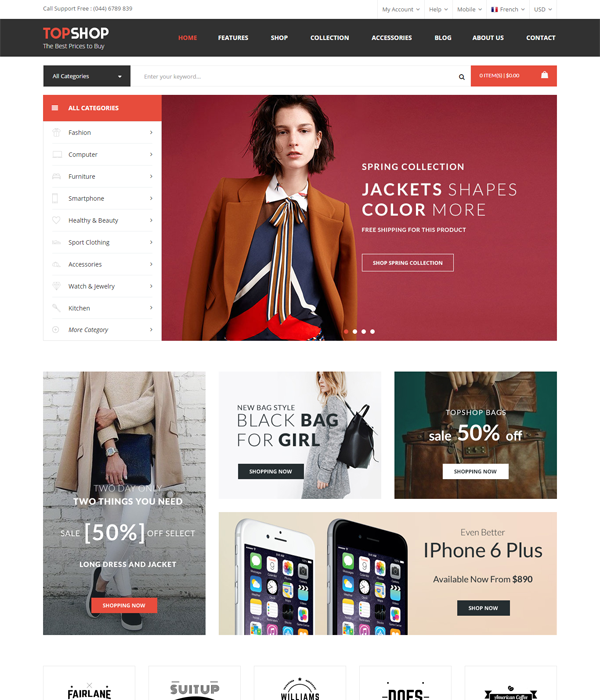 Best Magento Multi-Category Stores Themes - Electro
