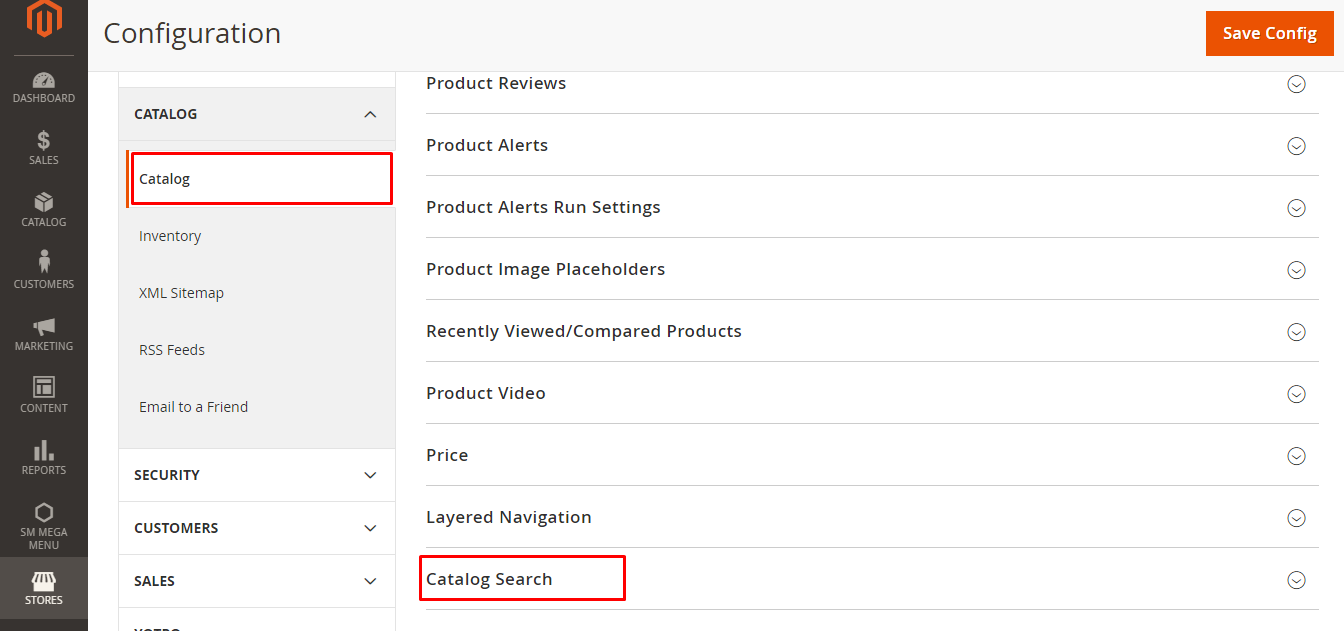 Configure Search Options 3