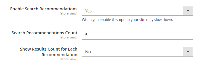 Configure Suggestions and Recommendations 1