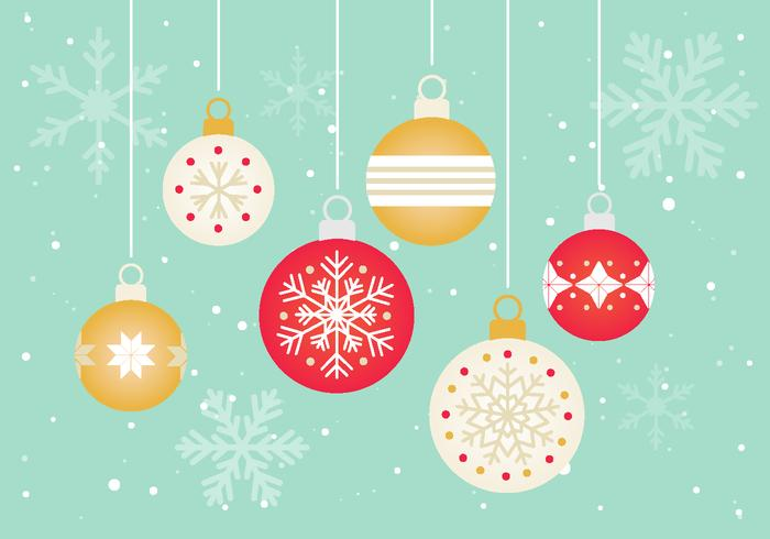 High-Quality Free Christmas Vector Graphics 2017 - Baubles