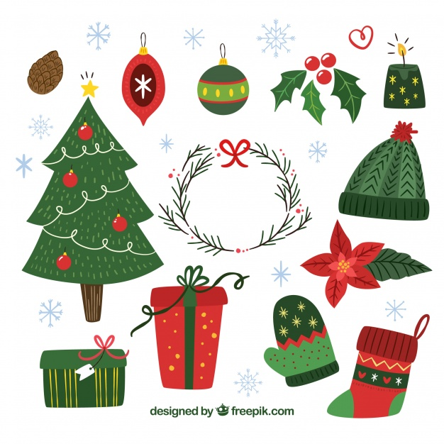 High-Quality Free Christmas Vector Graphics 2017 - Christmas design elements