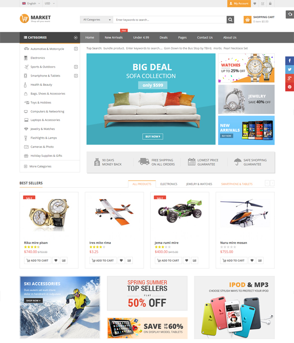 Best Premium OpenCart Themes and Modules 2016- Maxshop