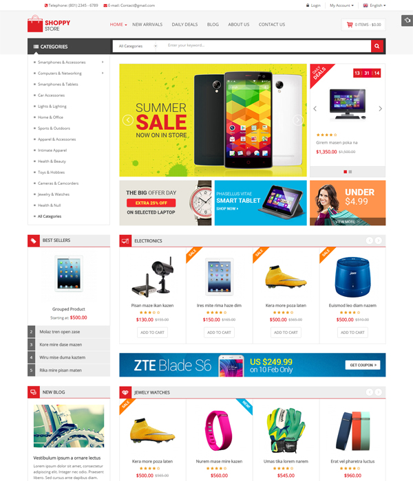 Best Magento Multi-Category Stores Themes - Shoppy