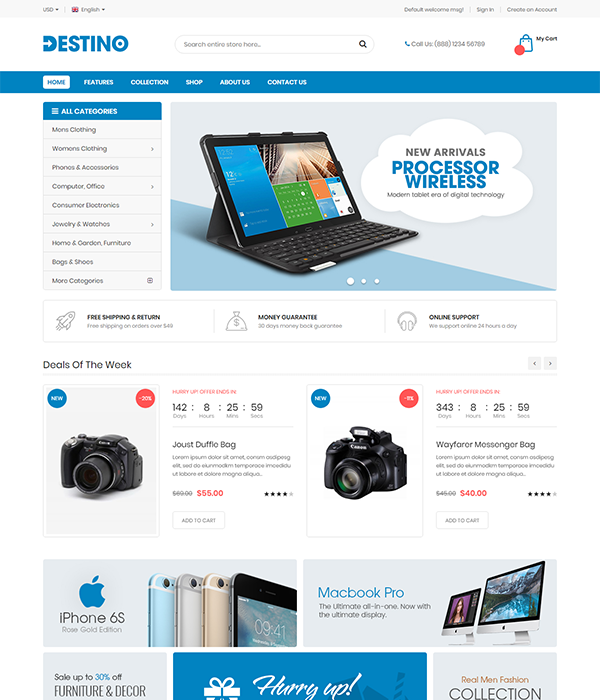 Best Marketplace Magento Themes - Destino