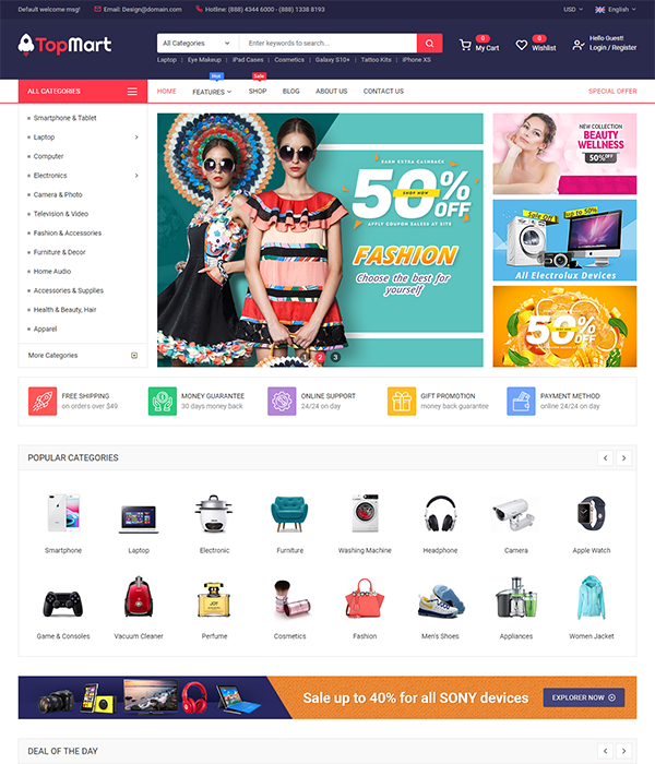 Maxshop - Best Marketplace Magento Themes