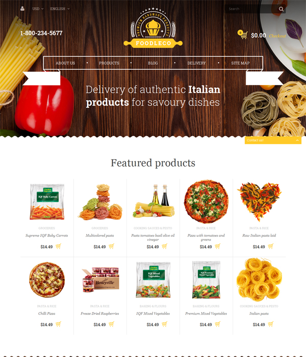 Best Premium Responsive OpenCart Theme - Foodleco