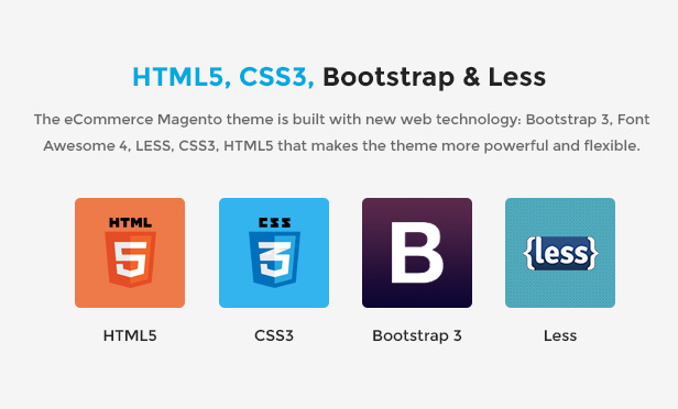 Responsive Magento 2.0 Theme- HTML5, CSS3, BOOTSTRAP & LESS