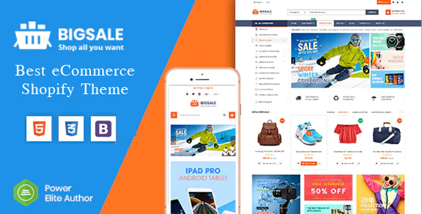 BigSale - The Clean, Minimal & Unlimited Bootstrap 4 Shopify Theme