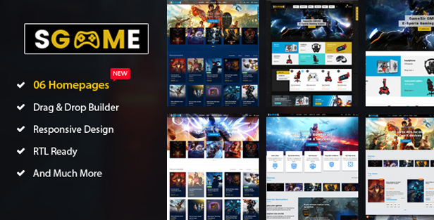 SGame - Game, Game Store Shopify Theme