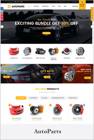 AutoParts – The Auto Parts, Tools, Equipments and Accessories Store Shopify Theme with Sections BigSale – The Clean, Minimal & Unlimited Bootstrap 4 Shopify Theme (12+ HomePages)