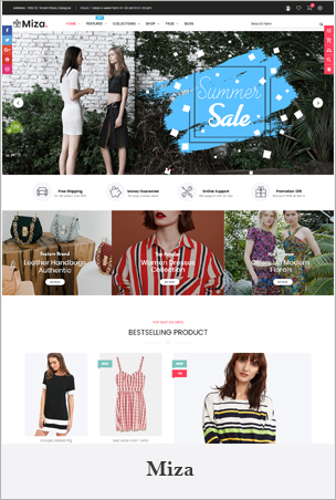 Miza - Multipurpose Clothing And Fashion Bootstrap 4 Shopify Theme With Sections BigSale – The Clean, Minimal & Unlimited Bootstrap 4 Shopify Theme (12+ HomePages)