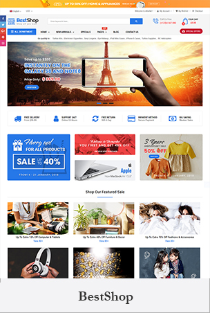 BestShop - Multipurpose Sectioned Drag & Drop Bootstrap 4 Shopify Theme BigSale – The Clean, Minimal & Unlimited Bootstrap 4 Shopify Theme (12+ HomePages)