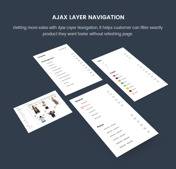 Prestashop Fashion Theme - Ajax