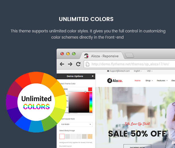 Prestashop Digital Theme - Unlimited Colors