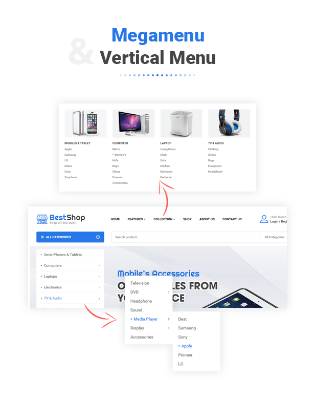 BestShop - Menu