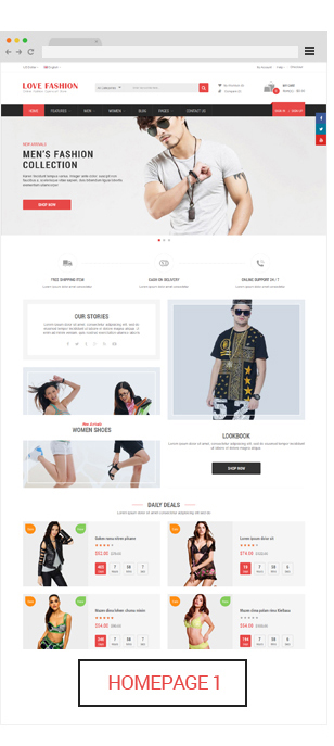 Opencart fashion theme - homepage 1