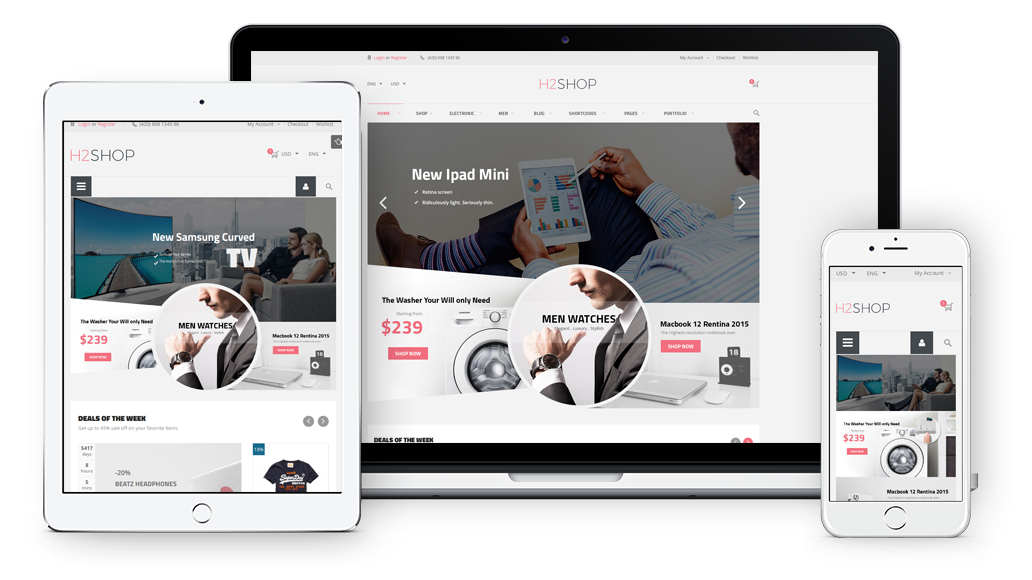 H2Shop- Fully Responsive