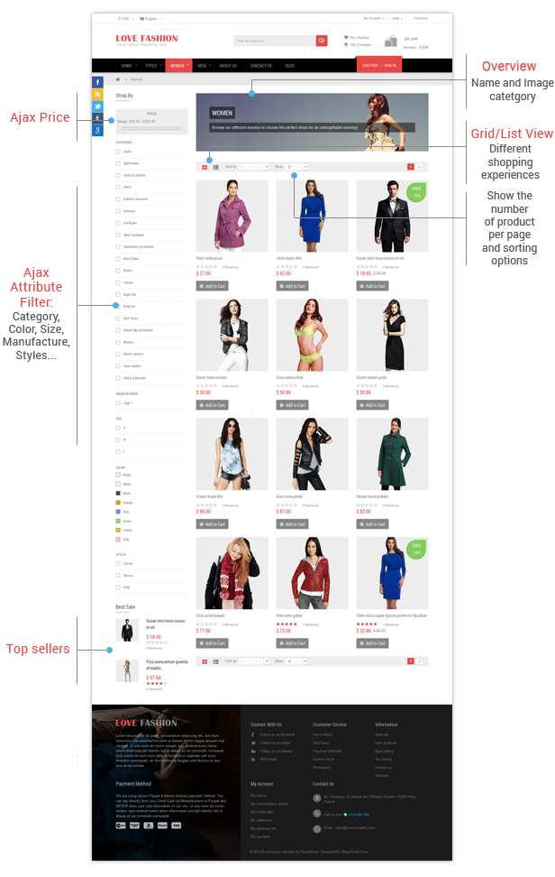 Love Fashion - Listing Page