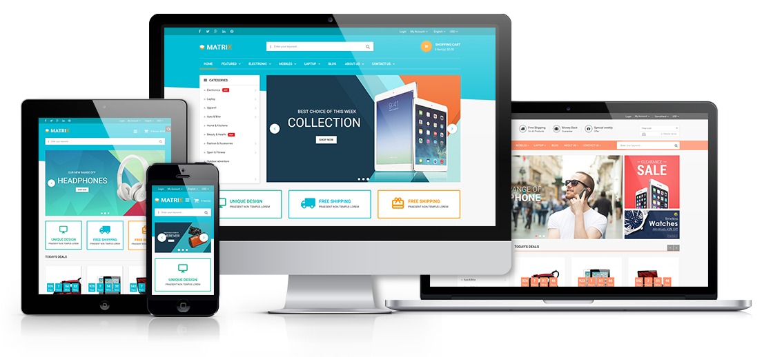 Matrix - Responsive Prestashop Theme - Fully Responsive