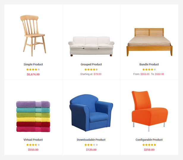 Supershop - 6 product types