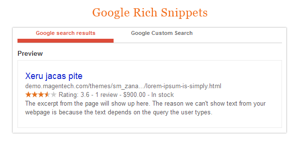 Zana Fashion - Rich snippets