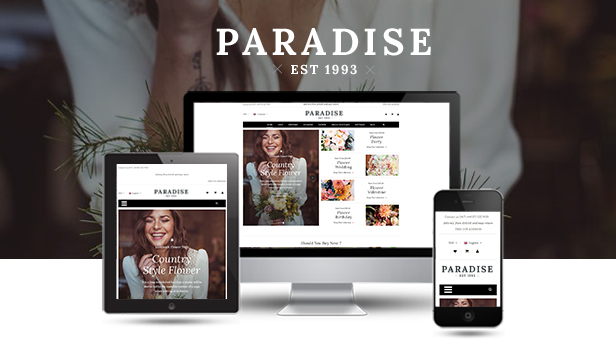 Paradise - Responsive WooCommerce WordPress Theme - Fully Responsive