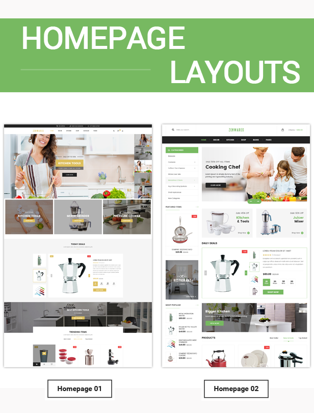 Responsive Technology WooCommerce WordPress Theme - Homepage