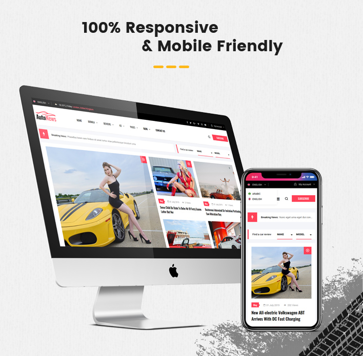 Sj AutoNews - Cars News, Cars Review Joomla Template