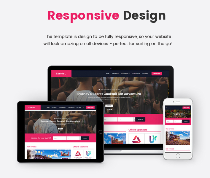 Sj Event - Elegant Ad Board, Classified Joomla Template
