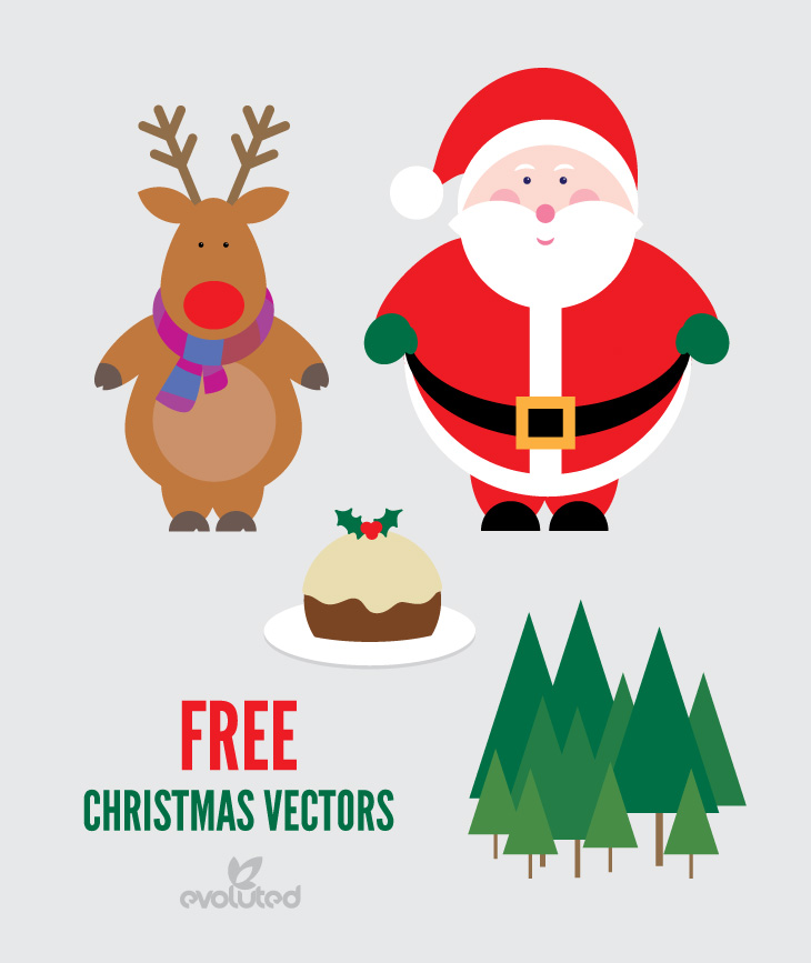 High-Quality Free Christmas Vector Graphics 2017 - Santa Claus