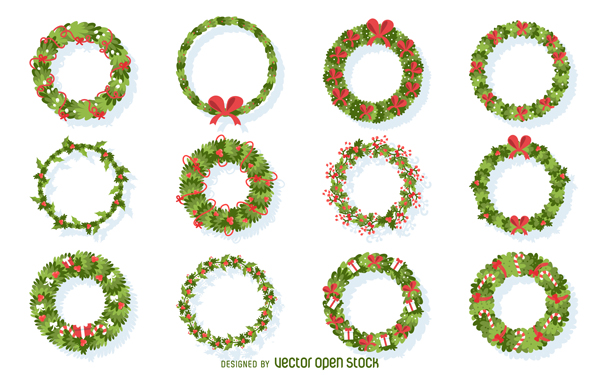 High-Quality Free Christmas Vector Graphics 2017 - Wreath