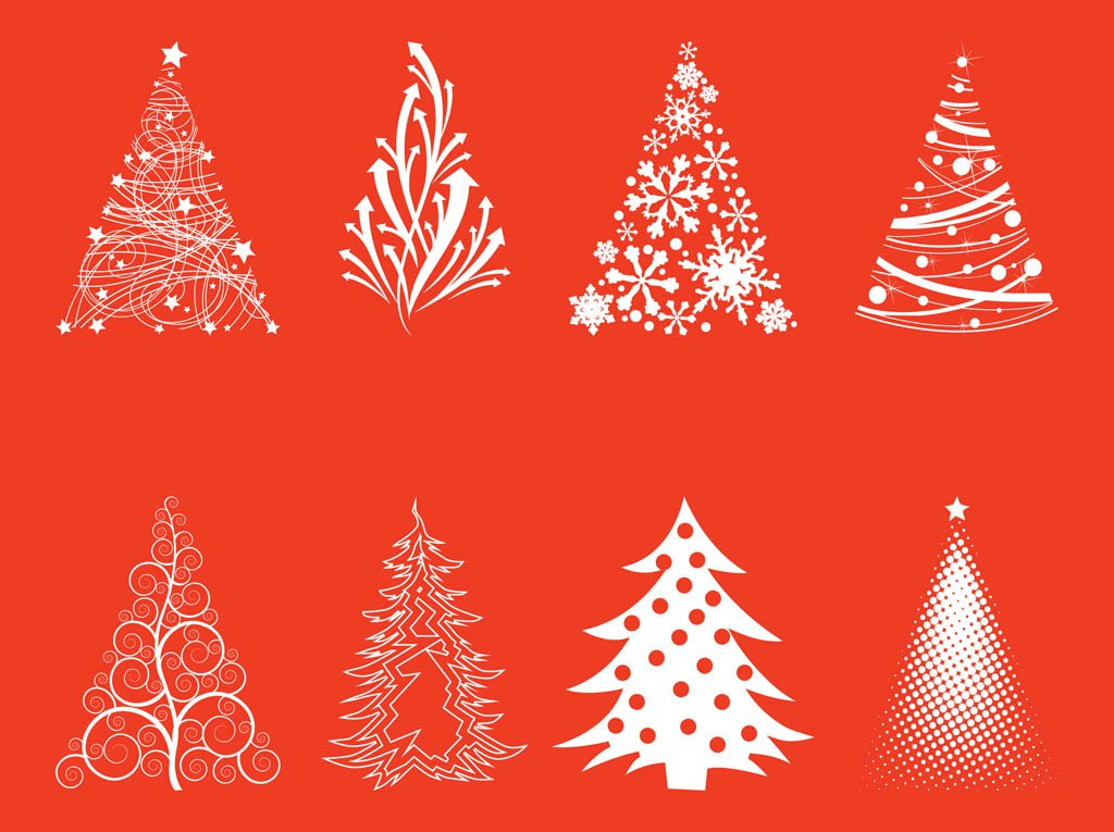 High-Quality Free Christmas Vector Graphics 2017 - Trees