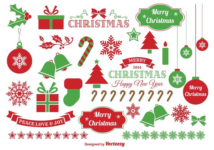 High-Quality Free Christmas Vector Graphics 2017 - Elements