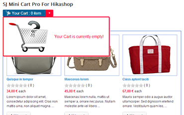 SJ Mini Cart Pro for HikaShop - Joomla! Module