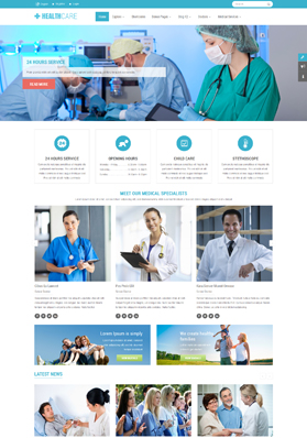 SJ Healthcare - Responsive Health/Medical Template