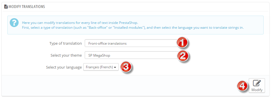 select type of transaction