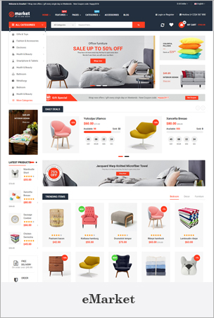eMarket - Creative Responsive MultiPurpose HTML 5 Template (Mobile Layouts Included)