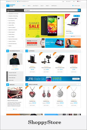 ShoppyStore - Multipurpose eCommerce HTML5 Template